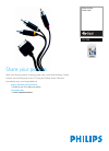 Philips PAC008 MP3 Player Accessories Manual (2 pages)