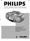 Philips AZ2000 Radio Manual (11 pages)