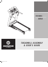 Horizon Fitness RST5.6 Treadmill Manual (16 pages)