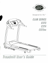 Horizon Fitness CLUB SERIES CST3 Treadmill Manual (32 pages)