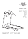 Horizon Fitness CLUB SERIES CST3 Treadmill Manual (30 pages)
