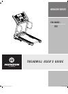 Horizon Fitness HORIZON CT83 Treadmill Manual (19 pages)