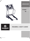 Horizon Fitness T84 Treadmill Manual (21 pages)
