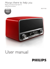 Philips ORT7500 Radio Manual (24 pages)