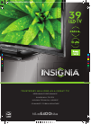 Insignia NS-39E400NA14 LED TV Manual (2 pages)