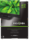 Insignia NS-42D240A13 LED TV Manual (2 pages)