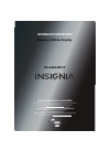 Insignia NS-46E340A13 LED TV Manual (8 pages)