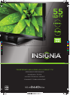 Insignia NS-55D440NA14 LED TV Manual (2 pages)