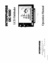 Interphase DC-500 Fish Finder Manual (21 pages)