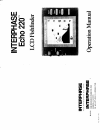 Interphase Echo 220 Fish Finder Manual (16 pages)