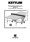 Kettler 07135-000/-500 Game Manual (17 pages)