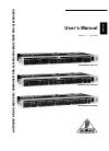 Behringer COMPOSER PRO-XL MDX2600 DJ Equipment Manual (12 pages)