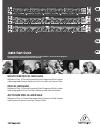 Behringer COMPOSER PRO-XL MDX2600 DJ Equipment Manual (16 pages)