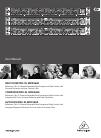Behringer COMPOSER PRO-XL MDX2600 DJ Equipment Manual (15 pages)
