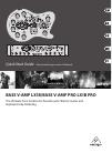 Behringer BASS V-AMP LX1B DJ Equipment Manual (15 pages)