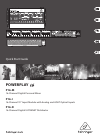 Behringer POWERPLAY 16 P16-D DJ Equipment Manual (19 pages)