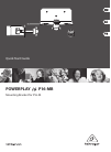 Behringer POWERPLAY 16 P16-MB DJ Equipment Manual (9 pages)