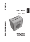 Behringer Thunderbird BX108 DJ Equipment Manual (7 pages)