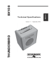 Behringer Thunderbird BX108 DJ Equipment Manual (3 pages)