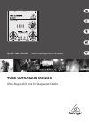 Behringer Tube Ultragain MIC200 DJ Equipment Manual (29 pages)