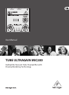 Behringer Tube Ultragain MIC200 DJ Equipment Manual (25 pages)