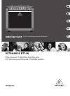 Behringer BASS V-AMP LX1B DJ Equipment Manual (11 pages)