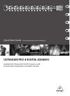 Behringer ULTRAGAIN PRO-8 DIGITAL ADA8000 DJ Equipment Manual (13 pages)