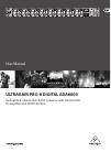 Behringer ULTRAGAIN PRO-8 DIGITAL ADA8000 DJ Equipment Manual (9 pages)