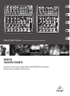 Behringer XENYX 1202FX DJ Equipment Manual (17 pages)