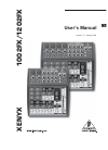 Behringer XENYX 1202FX DJ Equipment Manual (13 pages)