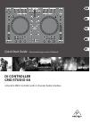 Behringer DJ CONTROLLER CMD STUDIO 4A DJ Equipment Manual (13 pages)