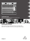 Behringer EURODESK SX4882 DJ Equipment Manual (24 pages)
