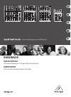 Behringer Eurorack UB502 DJ Equipment Manual (20 pages)