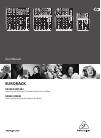 Behringer Eurorack UB502 DJ Equipment Manual (12 pages)