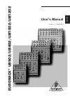 Behringer Eurorack UB502 DJ Equipment Manual (10 pages)
