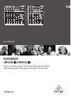 Behringer EURORACK UB1002FX DJ Equipment Manual (15 pages)
