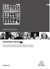 Behringer EURORACK UB1002FX DJ Equipment Manual (3 pages)