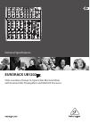 Behringer EURORACK UB1202FX DJ Equipment Manual (3 pages)
