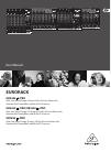 Behringer EURORACK UB1832FX-PRO DJ Equipment Manual (21 pages)