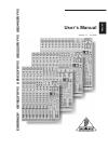 Behringer EURORACK UB1832FX-PRO DJ Equipment Manual (16 pages)