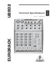 Behringer Eurorack UB802 DJ Equipment Manual (5 pages)