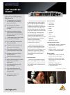 Behringer VIRTUALIZER 3D FX2000 DJ Equipment Manual (4 pages)