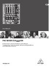 Behringer PRO MIXER DJX USB DJX900USB DJ Equipment Manual (11 pages)