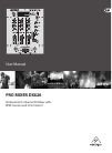 Behringer Pro Mixer DX626 DJ Equipment Manual (9 pages)