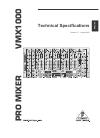 Behringer Pro Mixer VMX1000 DJ Equipment Manual (4 pages)