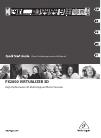 Behringer VIRTUALIZER 3D FX2000 DJ Equipment Manual (17 pages)