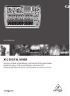 Behringer X32 DIGITAL MIXER DJ Equipment Manual (70 pages)