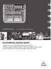 Behringer X32 DIGITAL MIXER DJ Equipment Manual (32 pages)