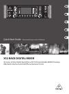 Behringer X32 DIGITAL MIXER DJ Equipment Manual (27 pages)