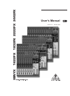 Behringer XENYX 2222FX DJ Equipment Manual (17 pages)